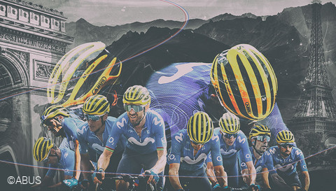 Best Team - Movistar Team: Tour de France 2020  ©ABUS
